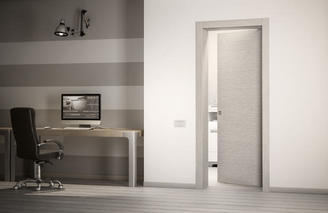 Porta interna liscia - Rovere Grigio - Novello Serramenti